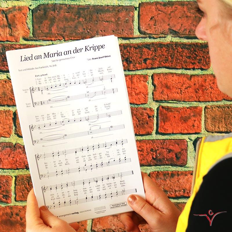 Chornoten: Lied an Maria an der Krippe