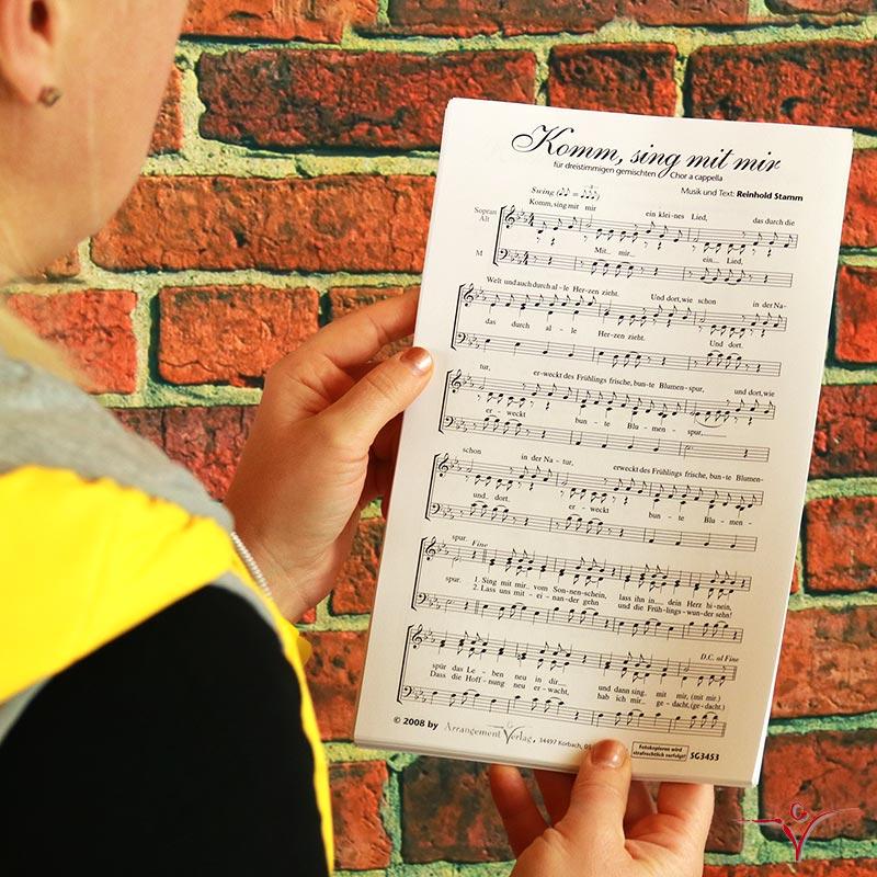 Chornoten: Komm, sing mit mir (dreistimmig)