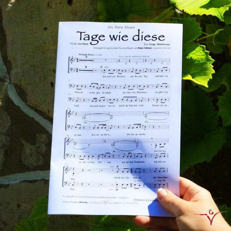 Chornoten: Tage wie diese (dreistimmig)