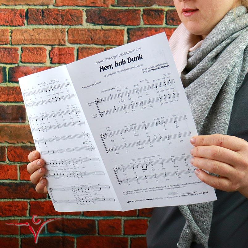Chornoten: Herr hab Dank (vierstimmig)