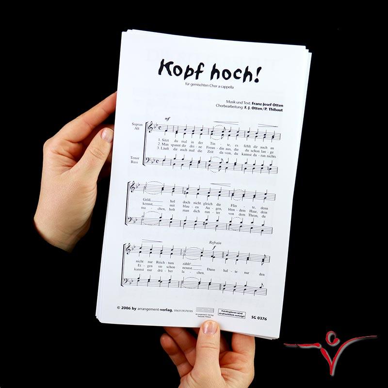 Chornoten: Kopf hoch (vierstimmig)
