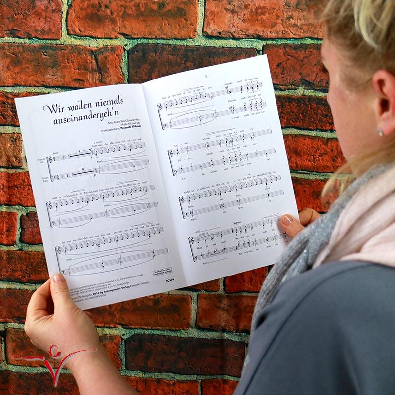 Chornoten: Wir wollen niemals auseinandergeh'n (vierstimmig)