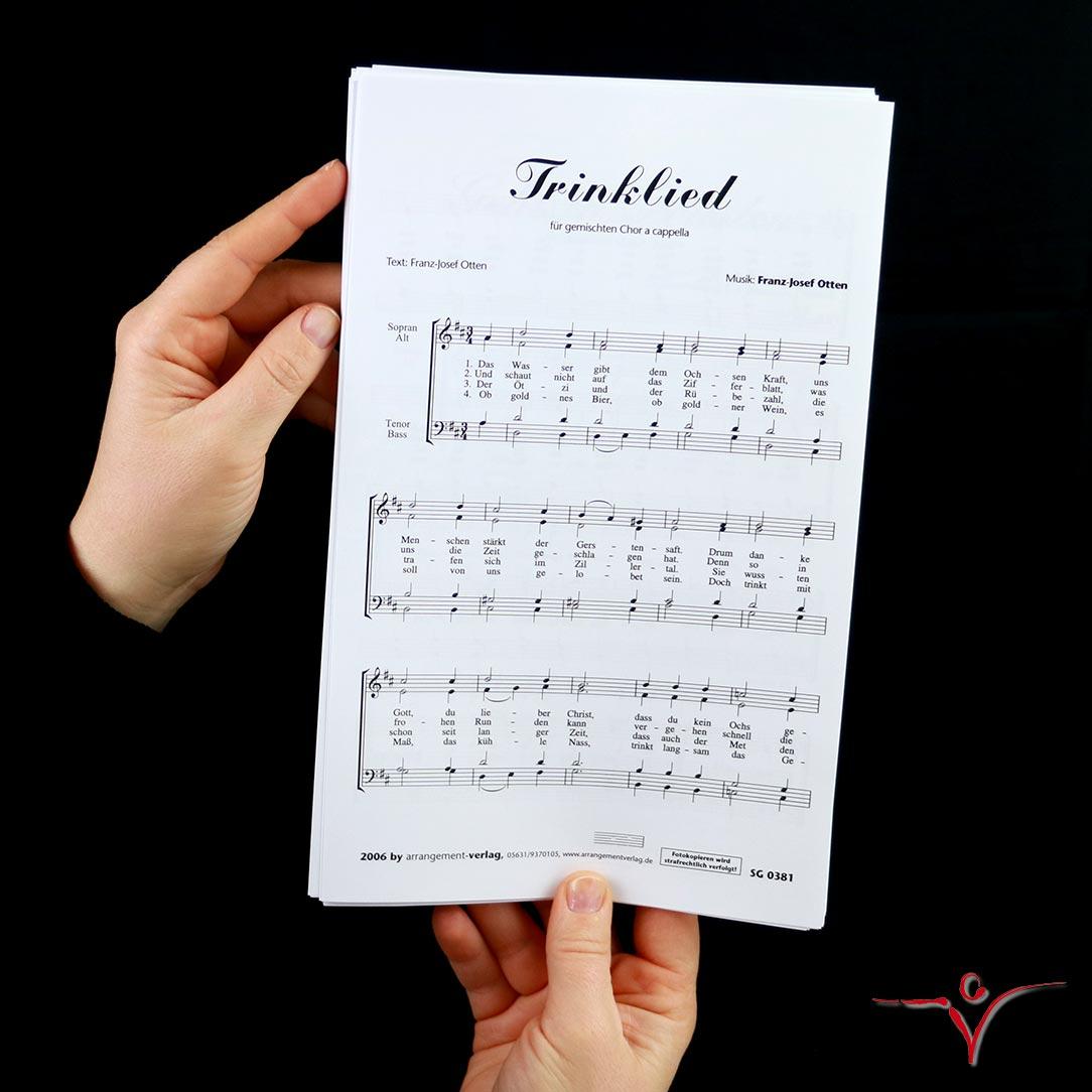 Chornoten: Trinklied (vierstimmig)