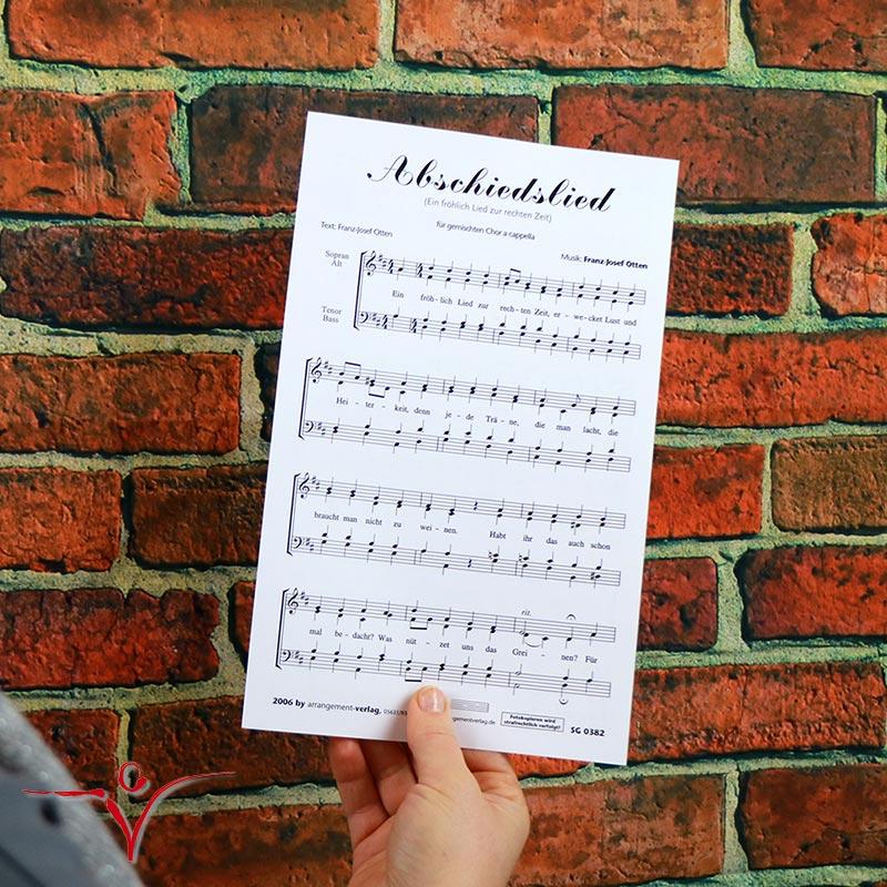 Chornoten: Abschiedslied (vierstimmig)