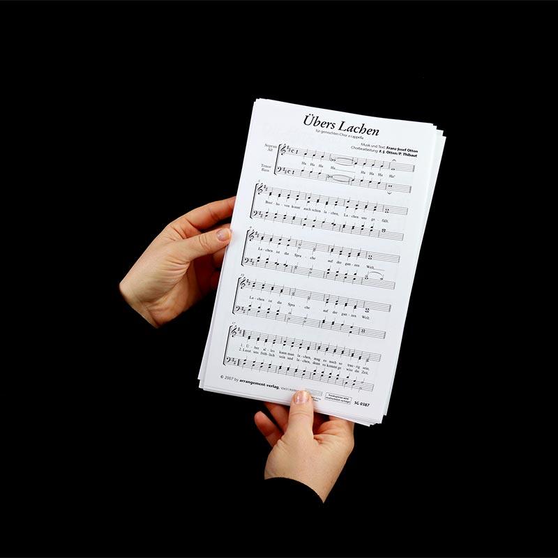 Chornoten: Übers Lachen (vierstimmig)