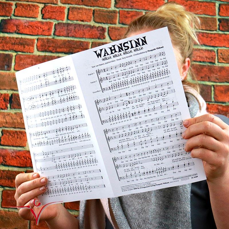 Chornoten: Wahnsinn  (vierstimmig)