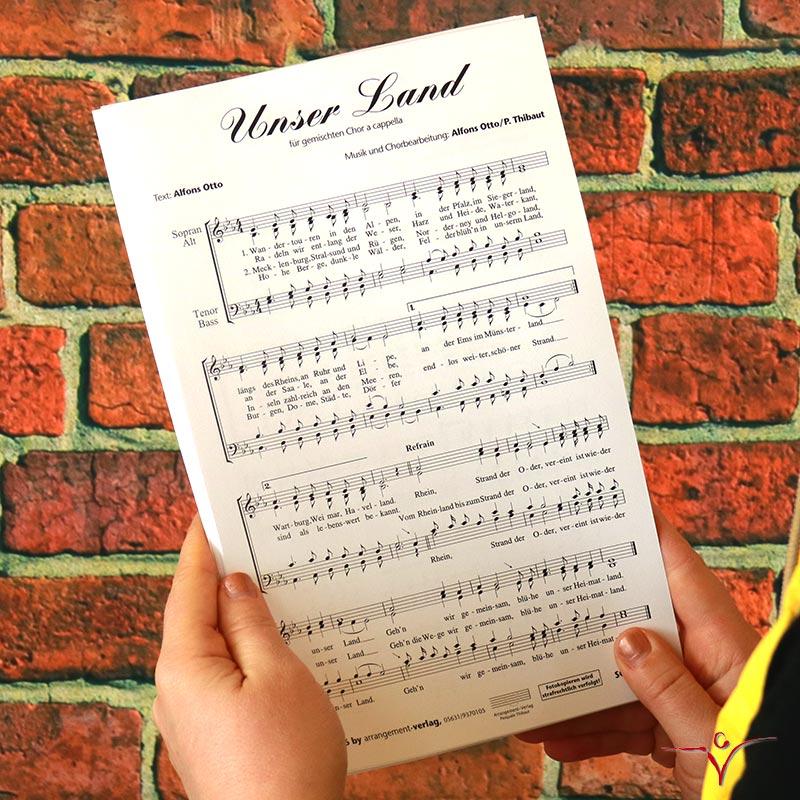 Chornoten: Unser Land (vierstimmig)