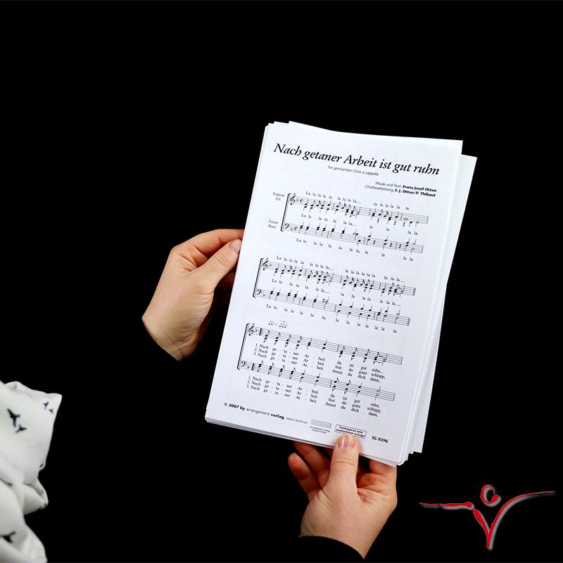 Chornoten: Nach getaner Arbeit ist gut ruhn (vierstimmig)