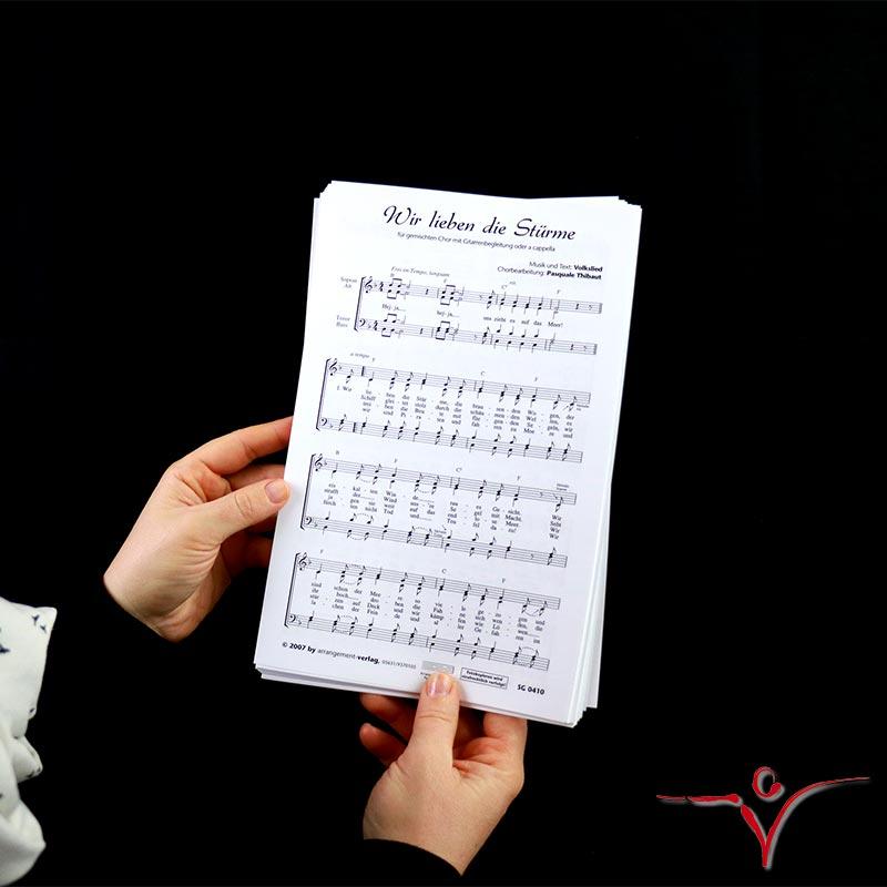Chornoten: Wir lieben die Stürme (vierstimmig)