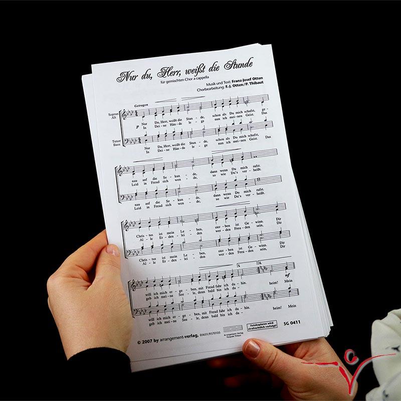 Chornoten: Nur du, Herr, weißt die Stunde