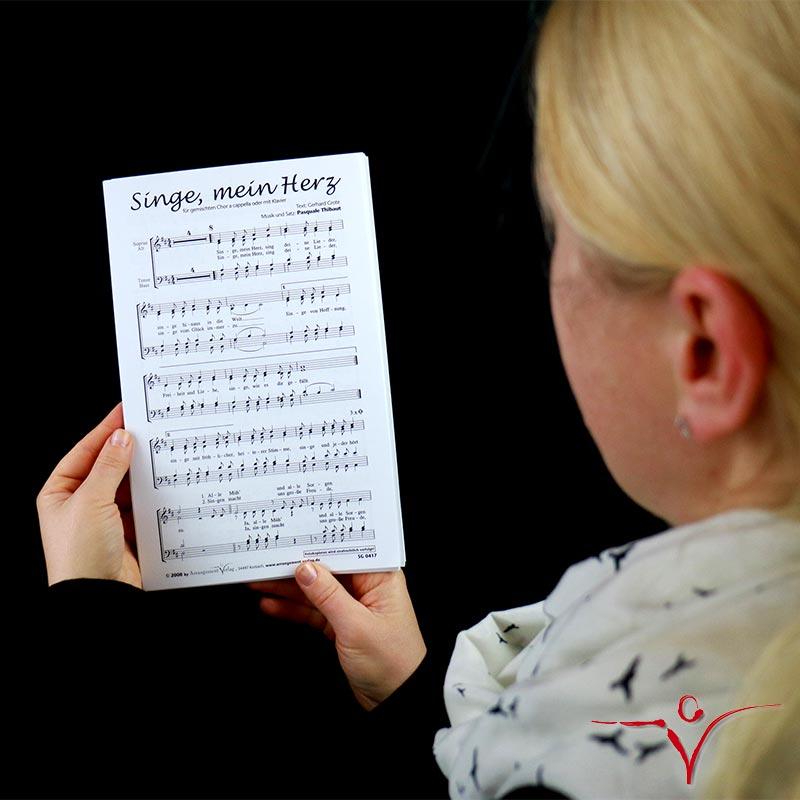 Chornoten: Singe, mein Herz (vierstimmig)