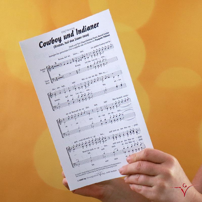 Chornoten: Komm, hol das Lasso raus (vierstimmig)