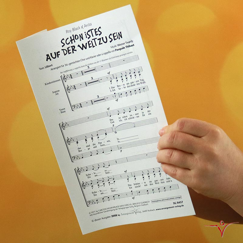 Chornoten: Schön ist es auf der Welt zu sein (dreistimmig)