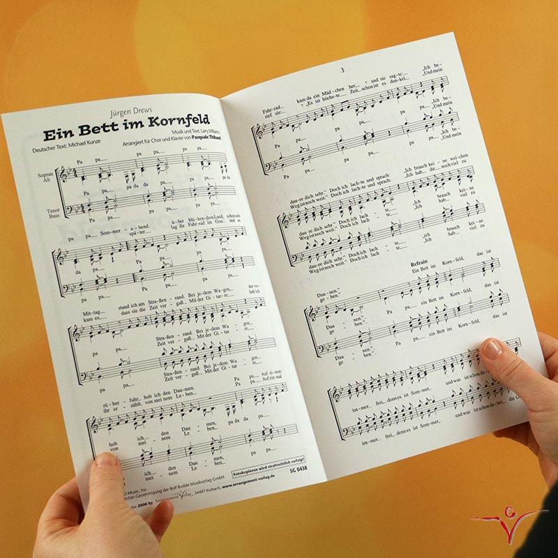 Chornoten: Ein Bett im Kornfeld (vierstimmig)