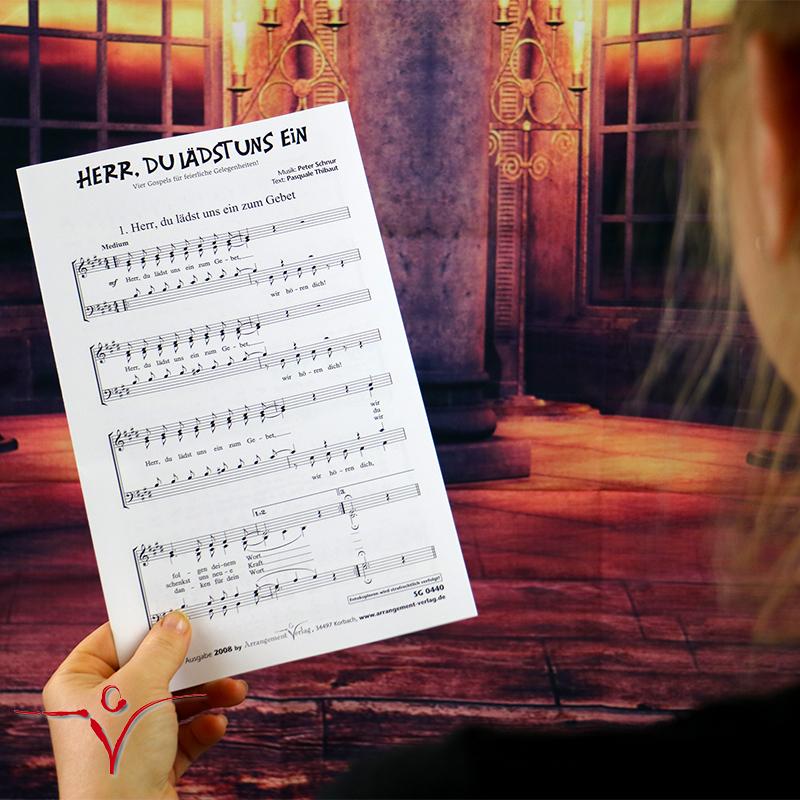 Chornoten: Herr, du lädst uns ein (vierstimmig)