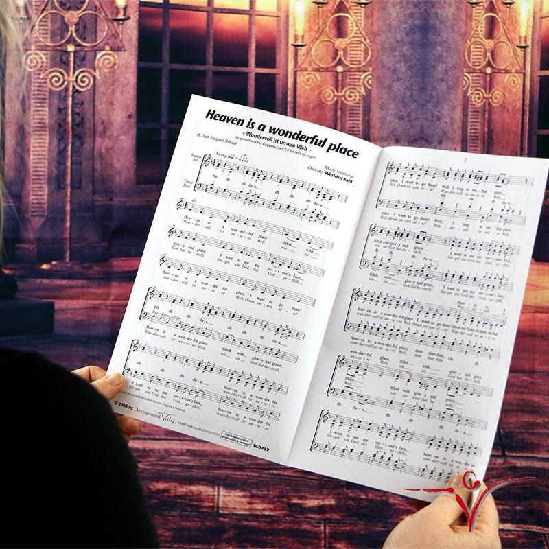 Chornoten: Heaven is a wonderful place (vierstimmig)