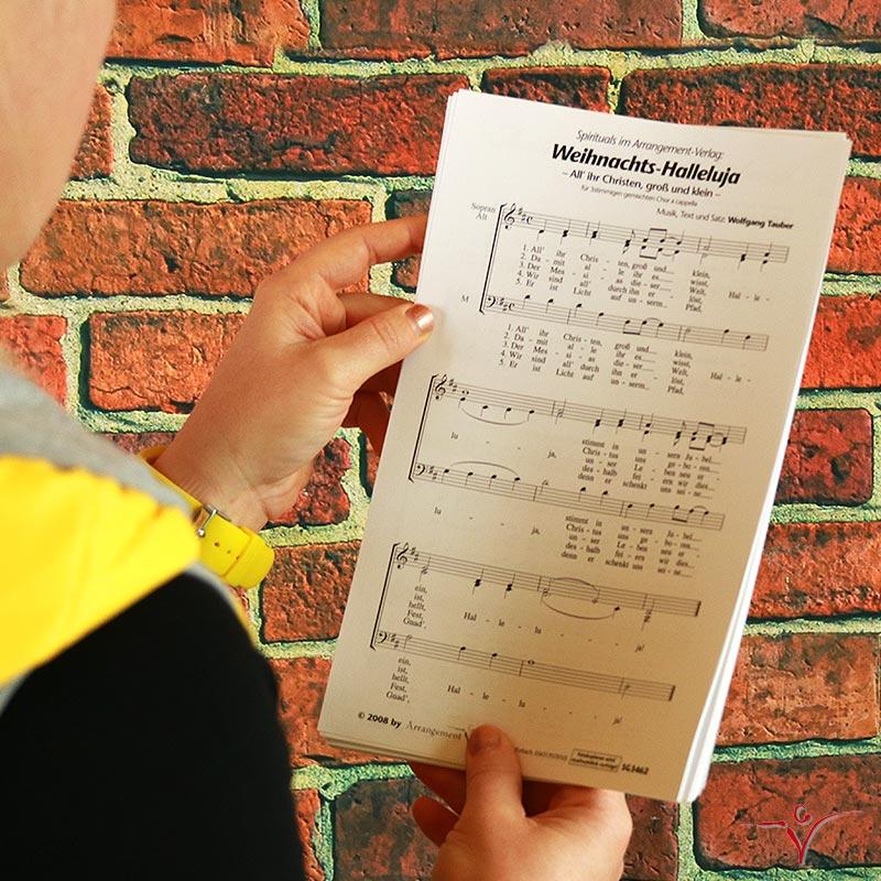 Chornoten: Weihnachts-Halleluja (vierstimmig)