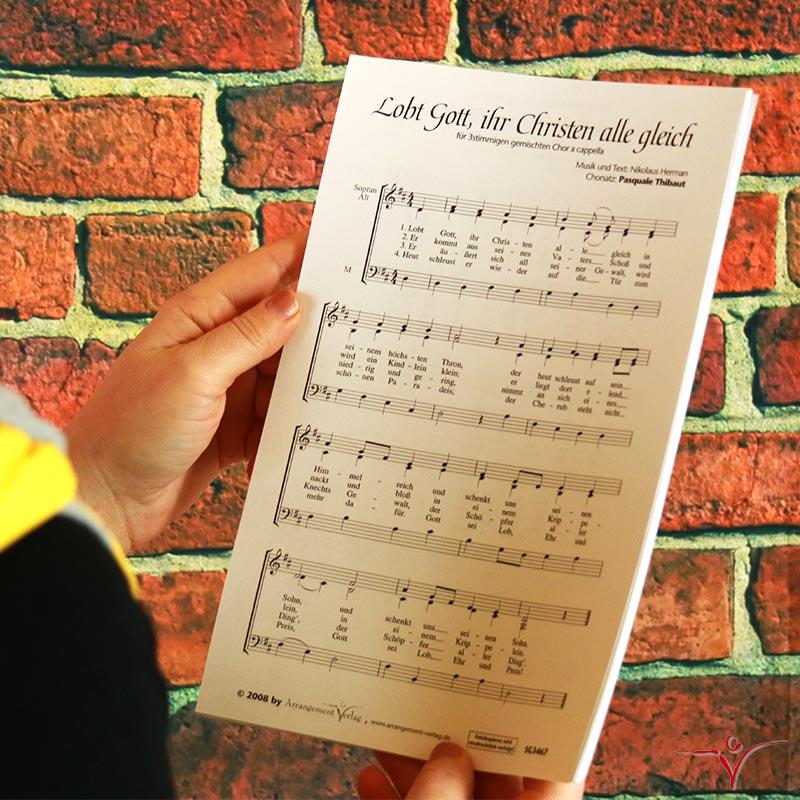 Chornoten: Lobt Gott, ihr Christen, alle gleich (vierstimmig)