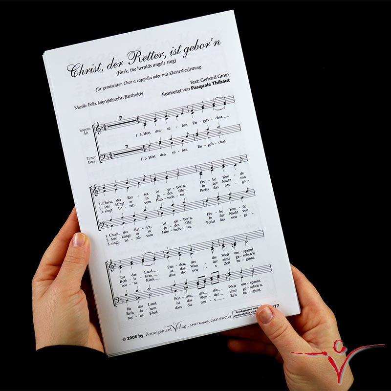 Chornoten: Christ, der Retter, ist geborn (vierstimmig)