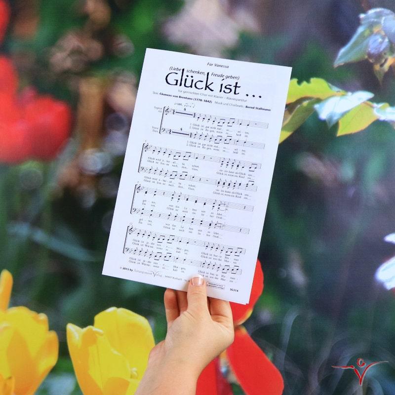 Chornoten: Glück ist … (vierstimmig)