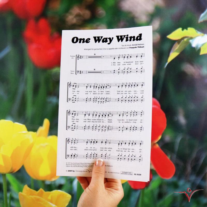 Chornoten: One way wind (vierstimmig)