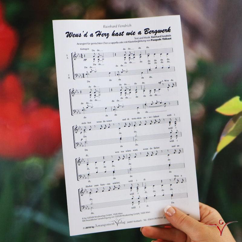 Chornoten: Weusd a Herz hast wie a Bergwerk (vierstimmig)