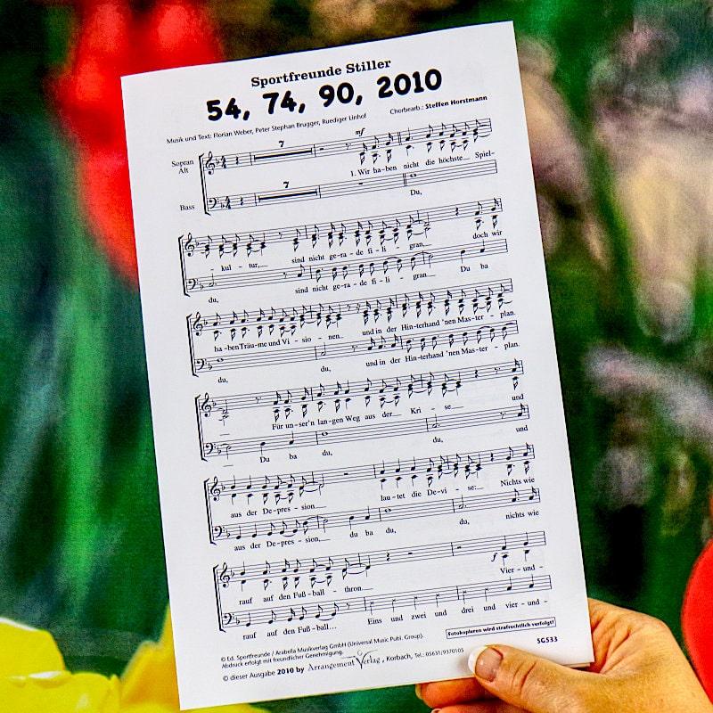 Chornoten: Vierundfünfzig, 74, 90, 2010 (dreistimmig)