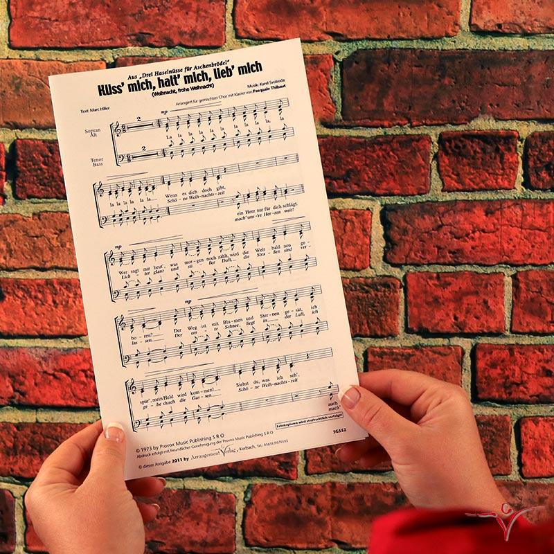 Chornoten: Küss mich, halt mich, lieb mich (vierstimmig)