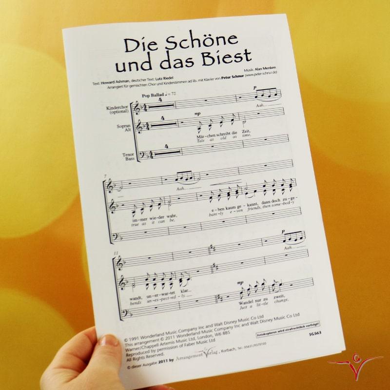 Chornoten: The Beauty and the Beast / Die Schöne und das Biest (vierstimmig)