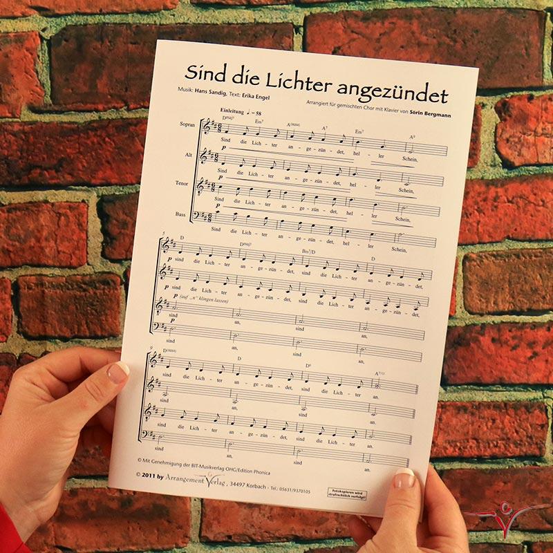 Chornoten: Sind die Lichter angezündet (vierstimmig)