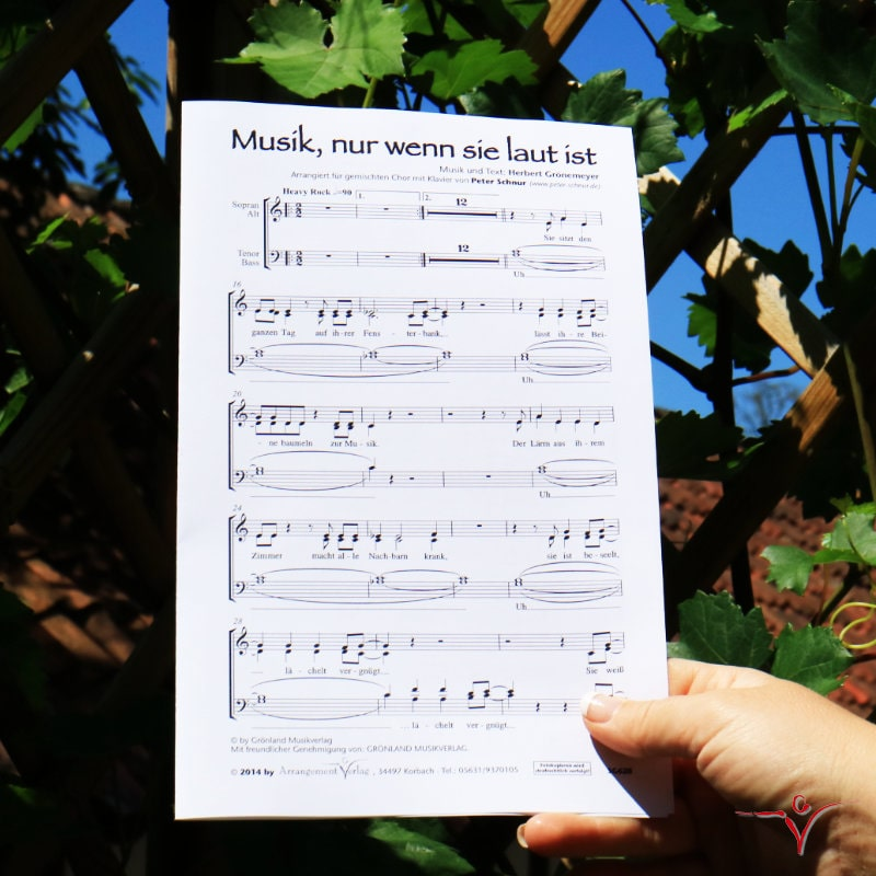 Chornoten: Musik, nur wenn sie laut ist (vierstimmig)