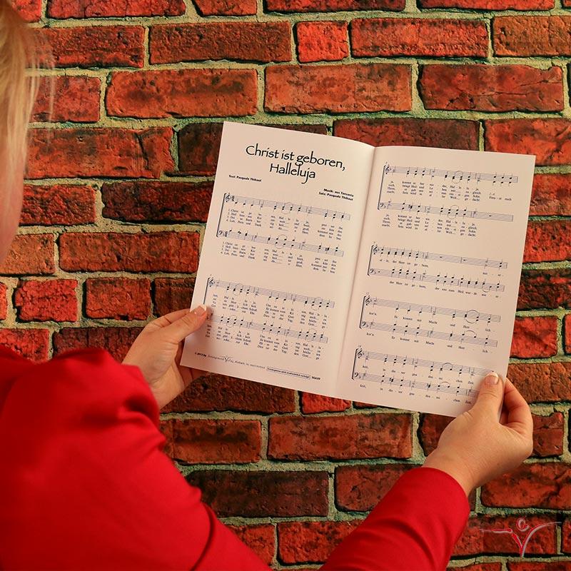 Chornoten: Christ ist geboren, Halleluja (vierstimmig)