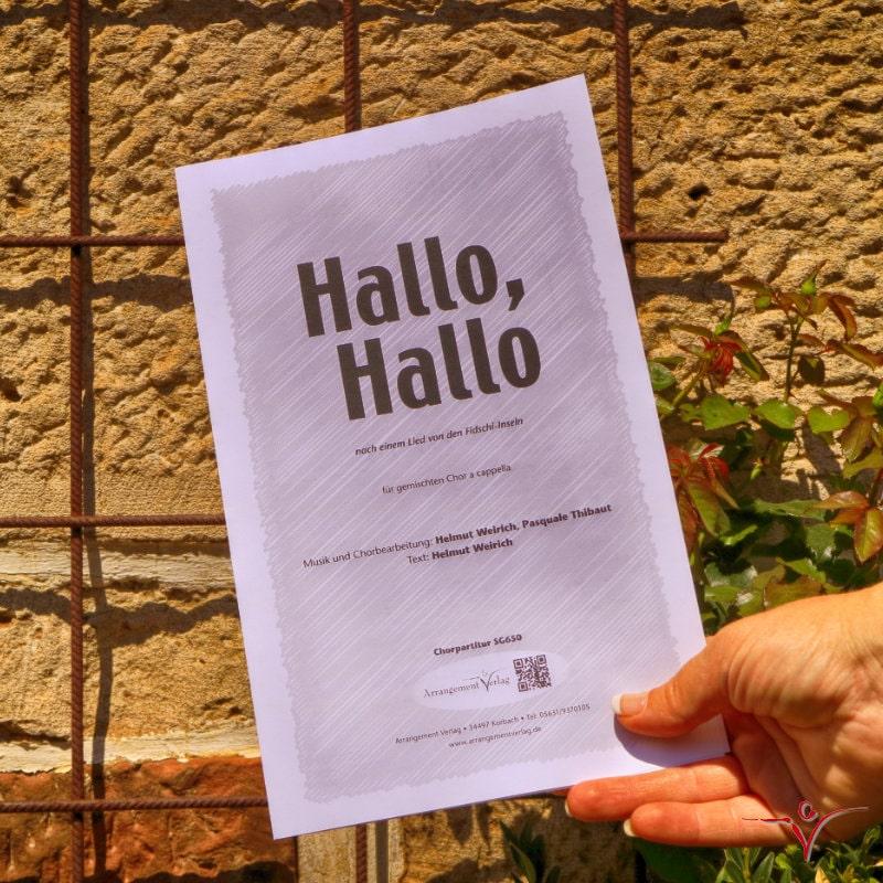Chornoten: Hallo, Hallo (vierstimmig)