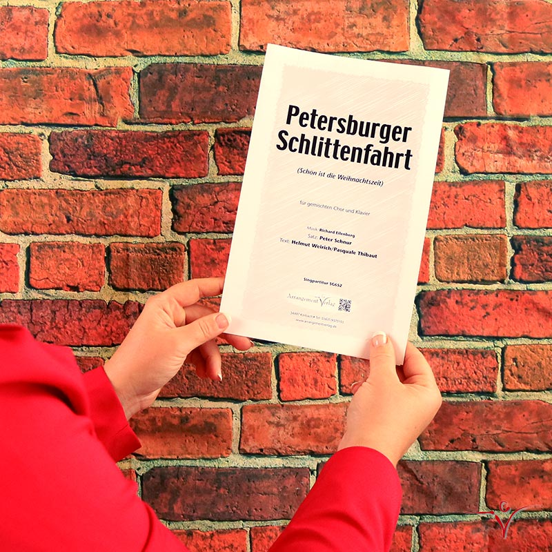 Chornoten: Petersburger Schlittenfahrt (vierstimmig)
