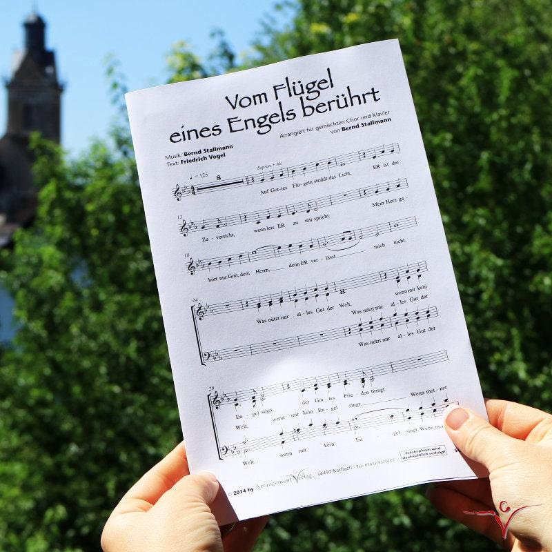 Chornoten: Vom Flügel eines Engels berührt (vierstimmig)