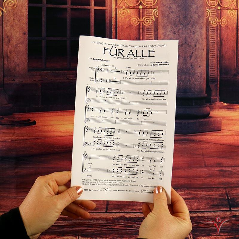 Chornoten: Für alle (vierstimmig)