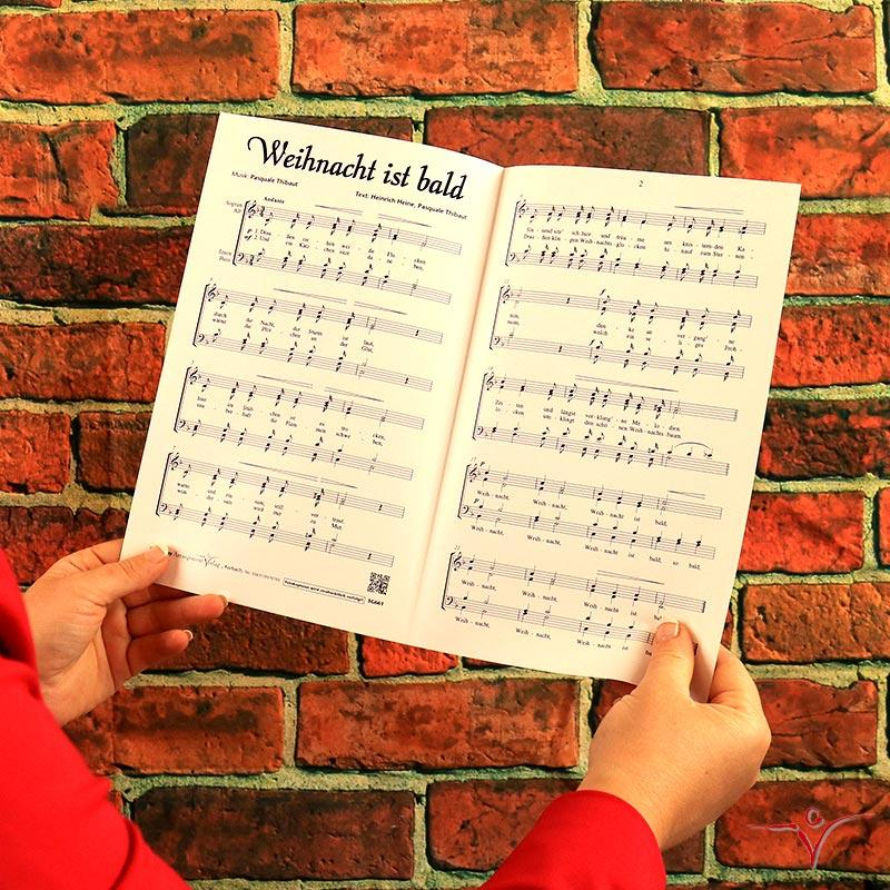 Chornoten: Weihnacht ist bald (vierstimmig)