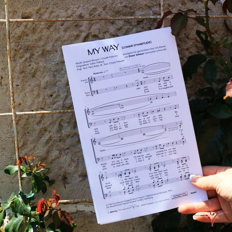 Chornoten: My Way (vierstimmig)
