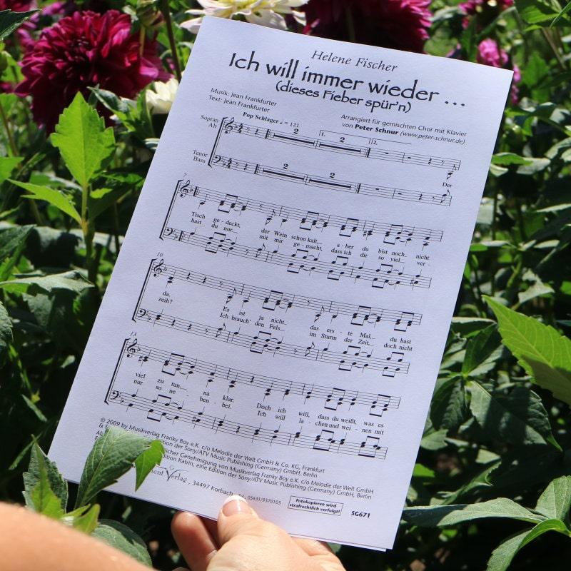 Chornoten: Ich will immer wieder … (vierstimmig)