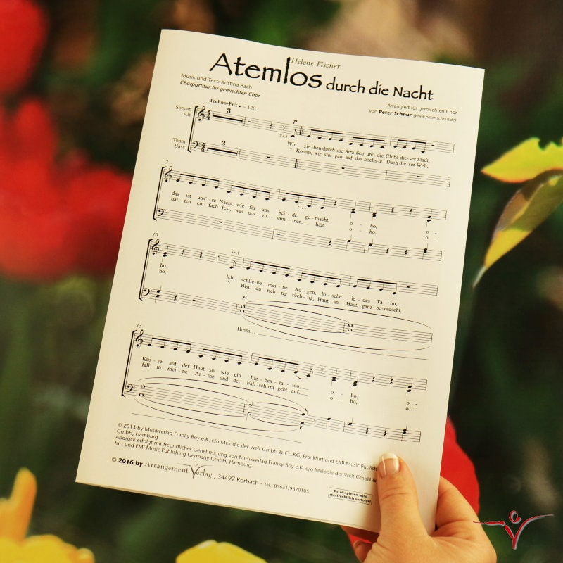 Chornoten: Atemlos durch die Nacht (vierstimmig)