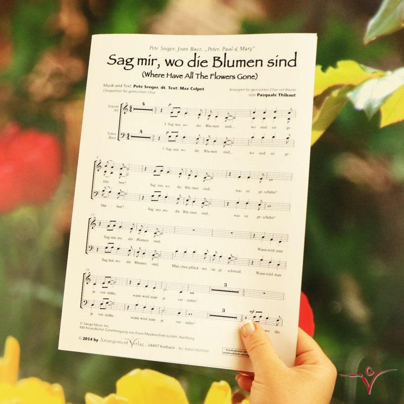 Chornoten: Sag mir, wo die Blumen sind (vierstimmig)