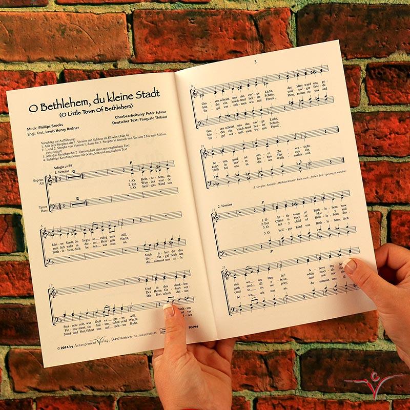 Chornoten: O Bethlehem, du kleine Stadt (vierstimmig)