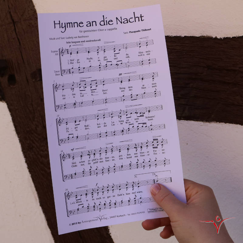 Chornoten: Hymne an die Nacht (vierstimmig)