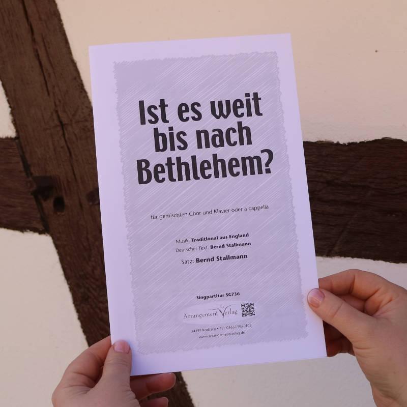 Chornoten: Ist es weit bis nach Bethlehem? (vierstimmig)