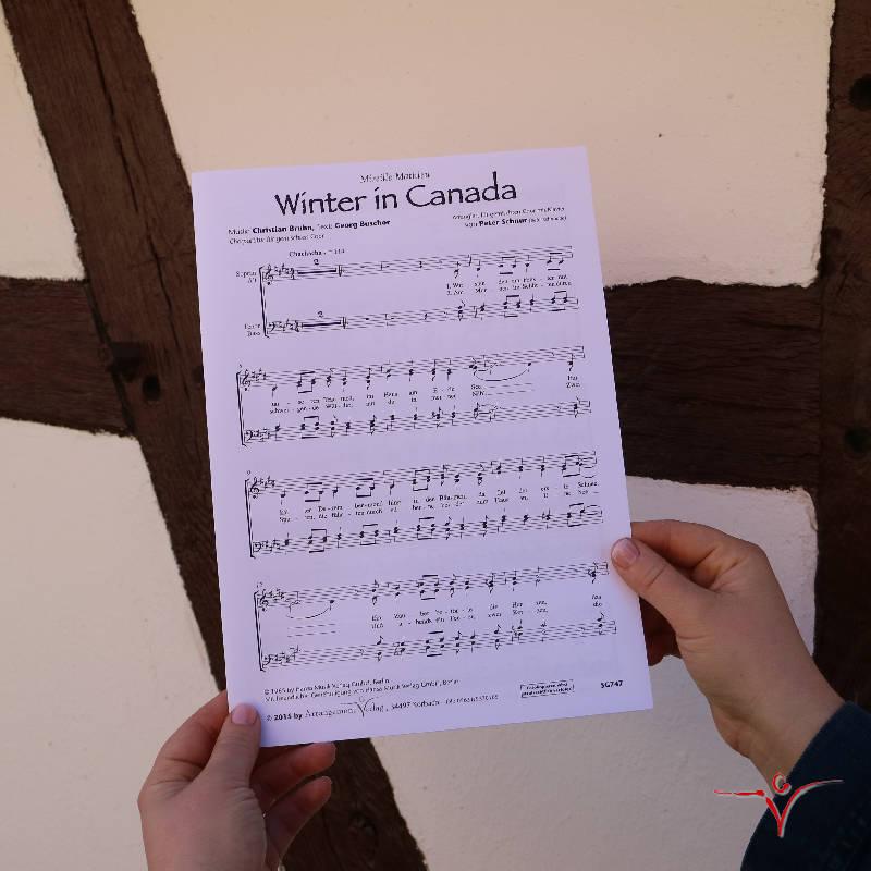 Chornoten: Winter in Canada (vierstimmig)