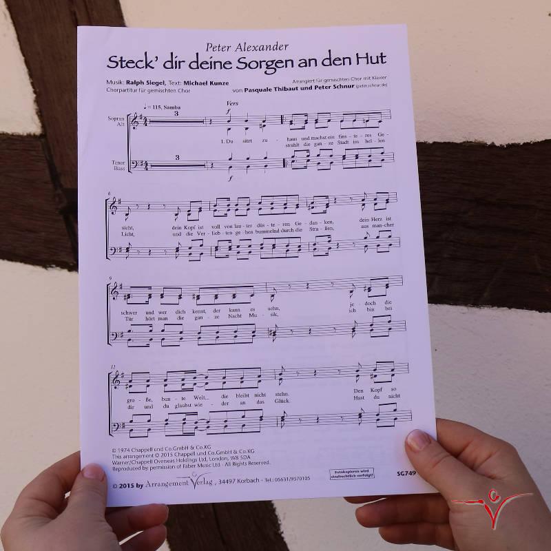 Chornoten: Steck dir deine Sorgen an den Hut (vierstimmig)