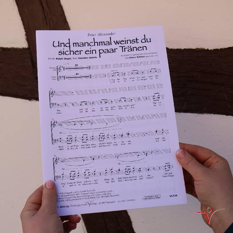 Chornoten: Und manchmal weinst du (vierstimmig)
