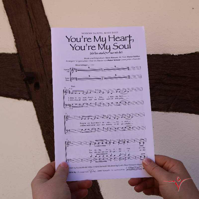 Chornoten: You're my heart, you're my soul (vierstimmig)