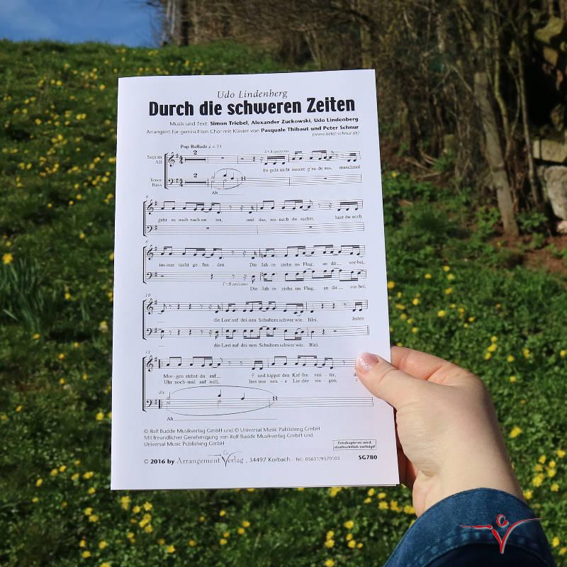 Chornoten: Durch die schweren Zeiten (vierstimmig)