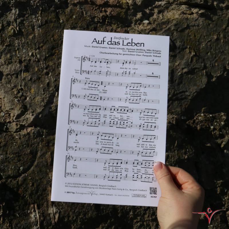 Chornoten: Auf das Leben (vierstimmig)
